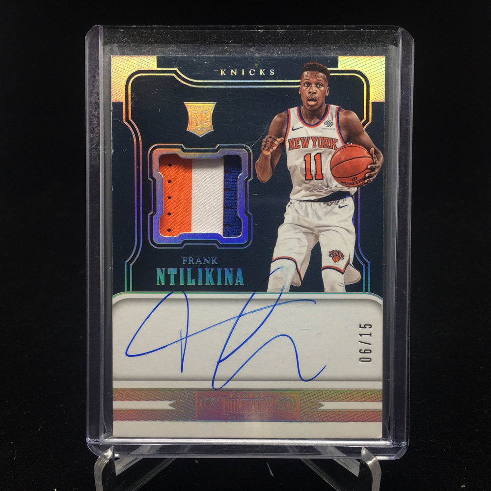 17-18 Dominion FRANK NTILIKINA RC Auto Patch 6/15-Cherry Collectables