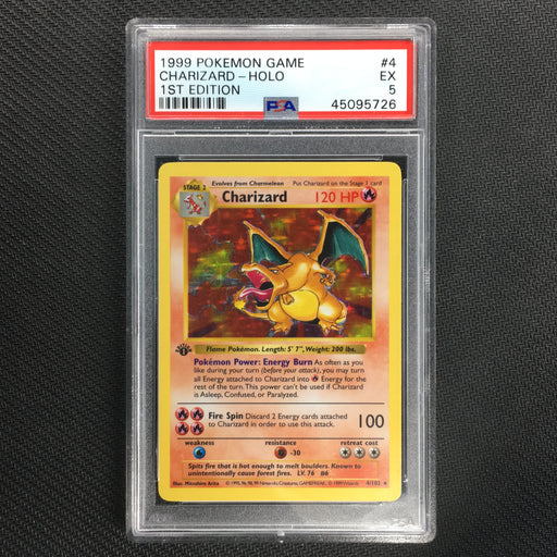 Charizard - 4/102 - Holo Rare Base Set 1st Edition Shadowless 1999 - PSA 5 EX-Cherry Collectables