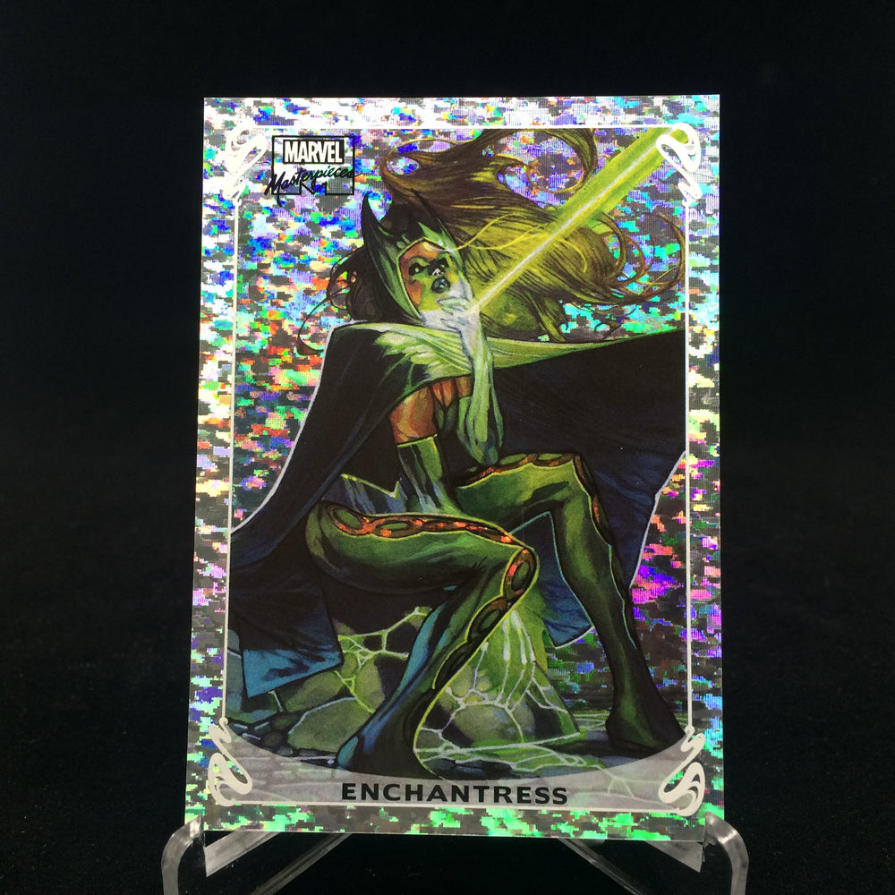 2018 Marvel Masterpiece ENCHANTRESS Holofoil 19 OF 20 Speckle /99-Cherry Collectables