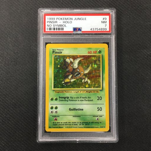 PSA 7 NM Pinsir - 9/64 - Holo Jungle (No Set Symbol Misprint)-Cherry Collectables