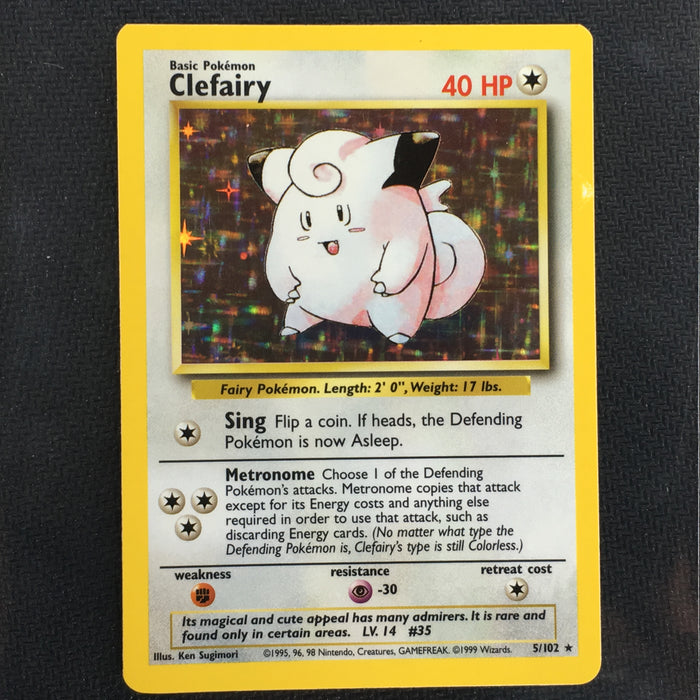 Clefairy - 5/102 - Holo Rare Shadowless-Cherry Collectables