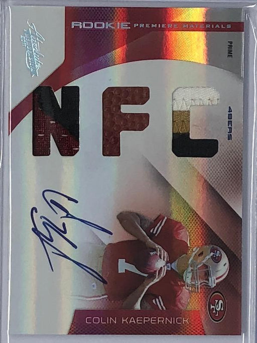 2011 Absolute COLIN KAEPERNICK Rookie Premiere Materials Jersey Auto RC Prime 15/25-Cherry Collectables