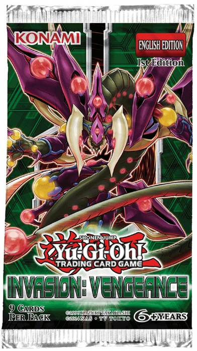 YU-GI-OH! TCG Invasion Vengeance Pack-Cherry Collectables