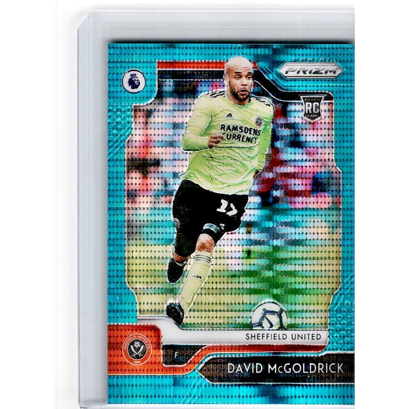 2019-20 Prizm EPL Breakaway Soccer DAVID MCGOLDRICK Rookie Teal Prizm 5/35-Cherry Collectables