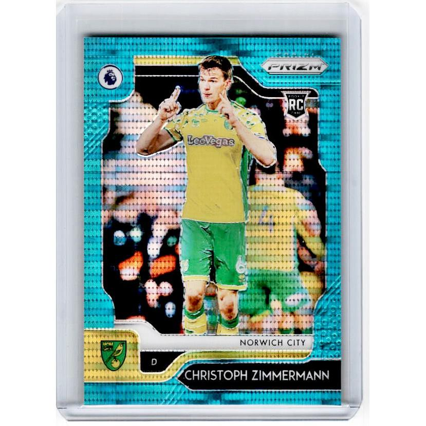 2019-20 Prizm EPL Breakaway Soccer CHRISTOPH ZIMMERMANN Rookie Teal Prizm 1/35-Cherry Collectables