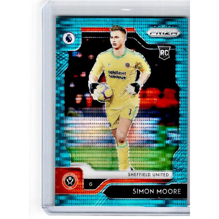2019-20 Prizm EPL Breakaway Soccer SIMON MOORE Rookie Teal Prizm 19/35-Cherry Collectables