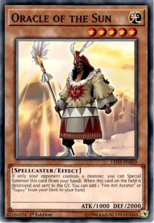 Oracle of the Sun - LED5-EN029 - Common 1st Edition-Cherry Collectables