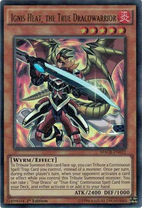 Ignis Heat, the True Dracowarrior - MACR-EN021 - Ultra Rare 1st Edition-Cherry Collectables