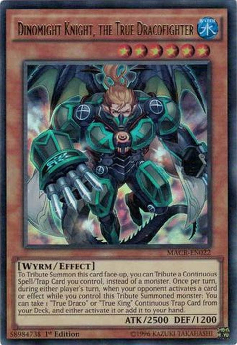 Dinomight Knight, the True Dracofighter - MACR-EN022 - Ultra Rare 1st Edition-Cherry Collectables