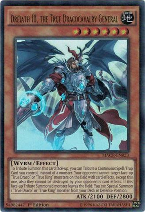 Dreiath III, the True Dracocavalry General - MACR-EN023 - Ultra Rare 1st Edition-Cherry Collectables