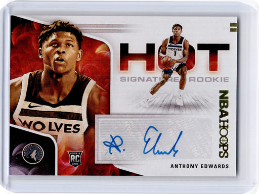 2020-21 Hoops ANTHONY EDWARDS Hot Signatures Rookie Auto #AED-Cherry Collectables
