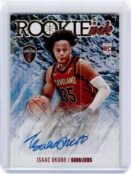 2020-21 Hoops ISAAC OKORO Rookie Ink Auto #IOK-Cherry Collectables