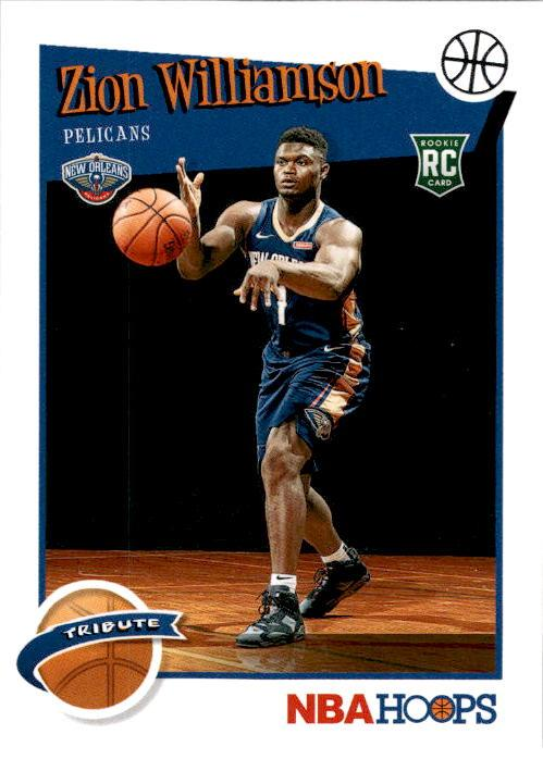 2019-20 Hoops ZION WILLIAMSON Base Hoops Tribute #296-Cherry Collectables