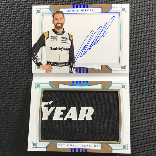 2020 National Treasures ARIK ALMIROLA Jumbo Firesuit Patch Signature Booklet Goodyear 2/2-Cherry Collectables