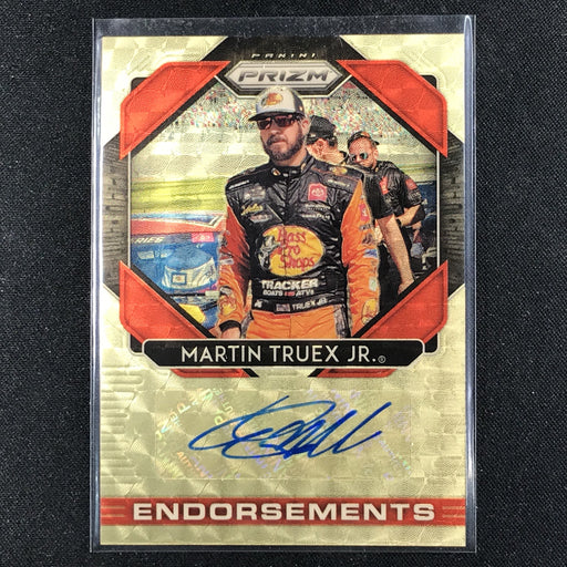 2020 Prizm Racing MARTIN TREUX JR. Endorsements Auto Gold Vinyl 1/1-Cherry Collectables