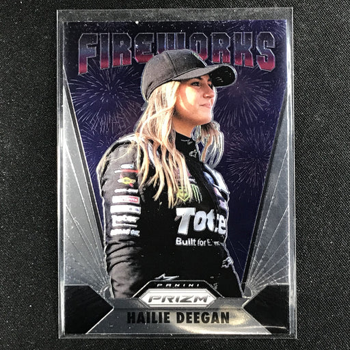 2020 Prizm Racing HAILIE DEEGAN Fireworks Rookie #19	2-Cherry Collectables