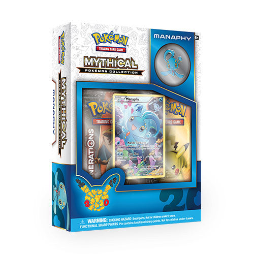 Mythical Pokemon Collection - Manaphy Pin Box-Cherry Collectables