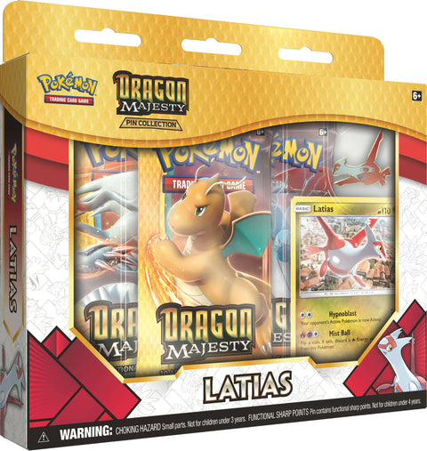 Pokemon TCG Dragon Majesty Pin Collection Latias-Cherry Collectables