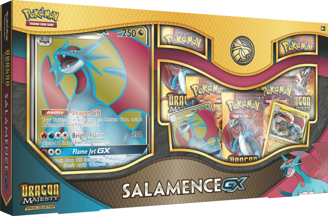 Pokemon TCG: Dragon Majesty Special Collection - Salamence-GX-Cherry Collectables