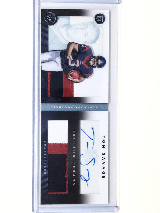 2014 Playbook TOM SAVAGE Dual Patch Auto Book RC 9/49 - Cherry Collectables - 1