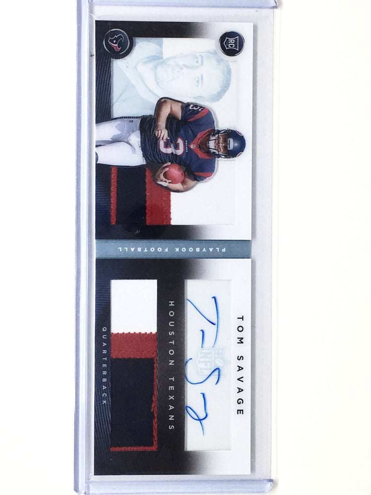 2014 Playbook TOM SAVAGE Dual Patch Auto Book RC 9/49-Cherry Collectables