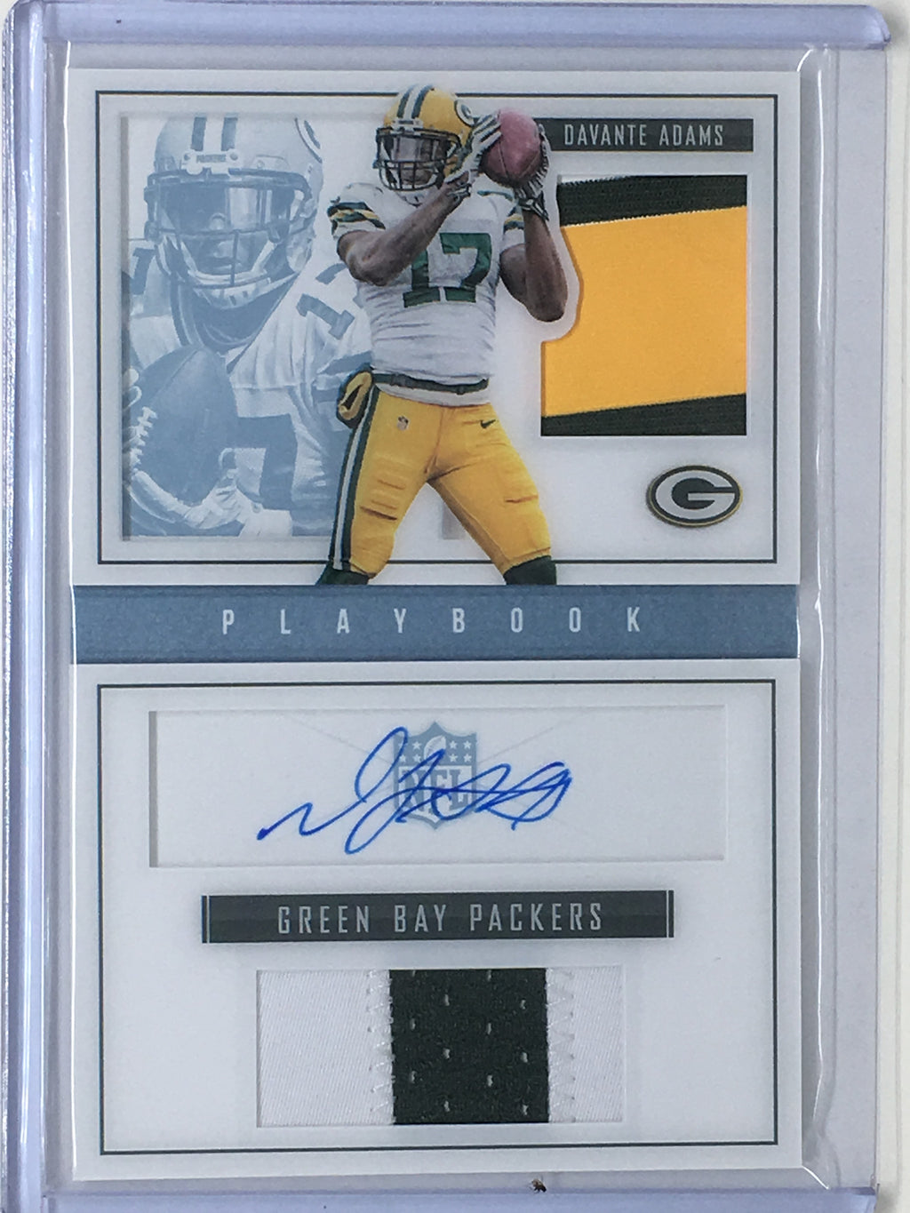 2015 Playbook DAVANTE ADAMS Dual Patch RC Auto Book 7/15 - Cherry Collectables - 1