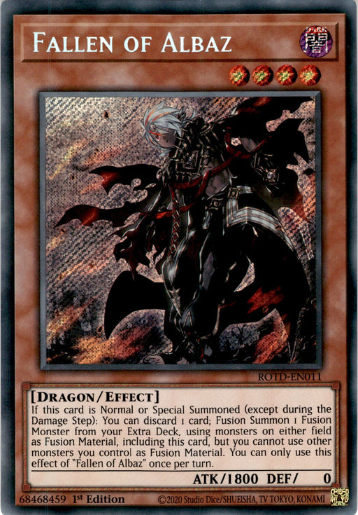 Fallen of Albaz - ROTD-EN011 - Secret Rare 1st Edition-Cherry Collectables