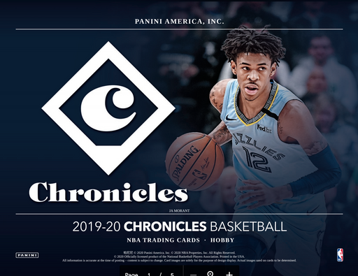 19-20 Chronicles NBA Hobby 3-Box Break #0192 - Jul 31 (Night)-Cherry Collectables