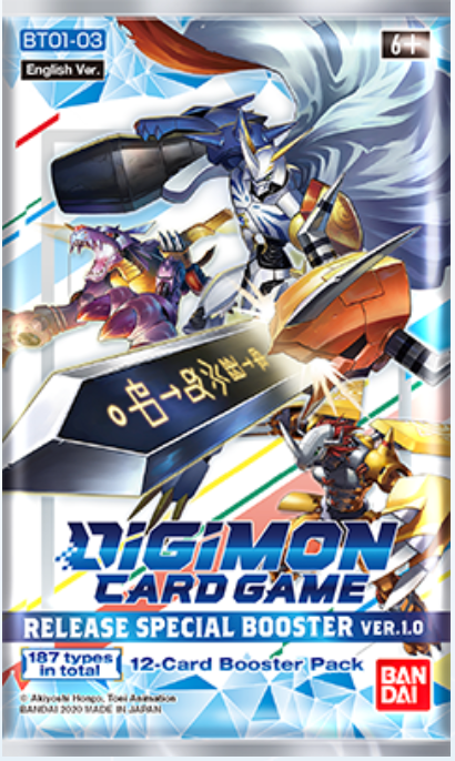 Digimon Card Game Series 01 Special Booster Pack Version 1 BT01-03 (Pre Order Jan)-Cherry Collectables