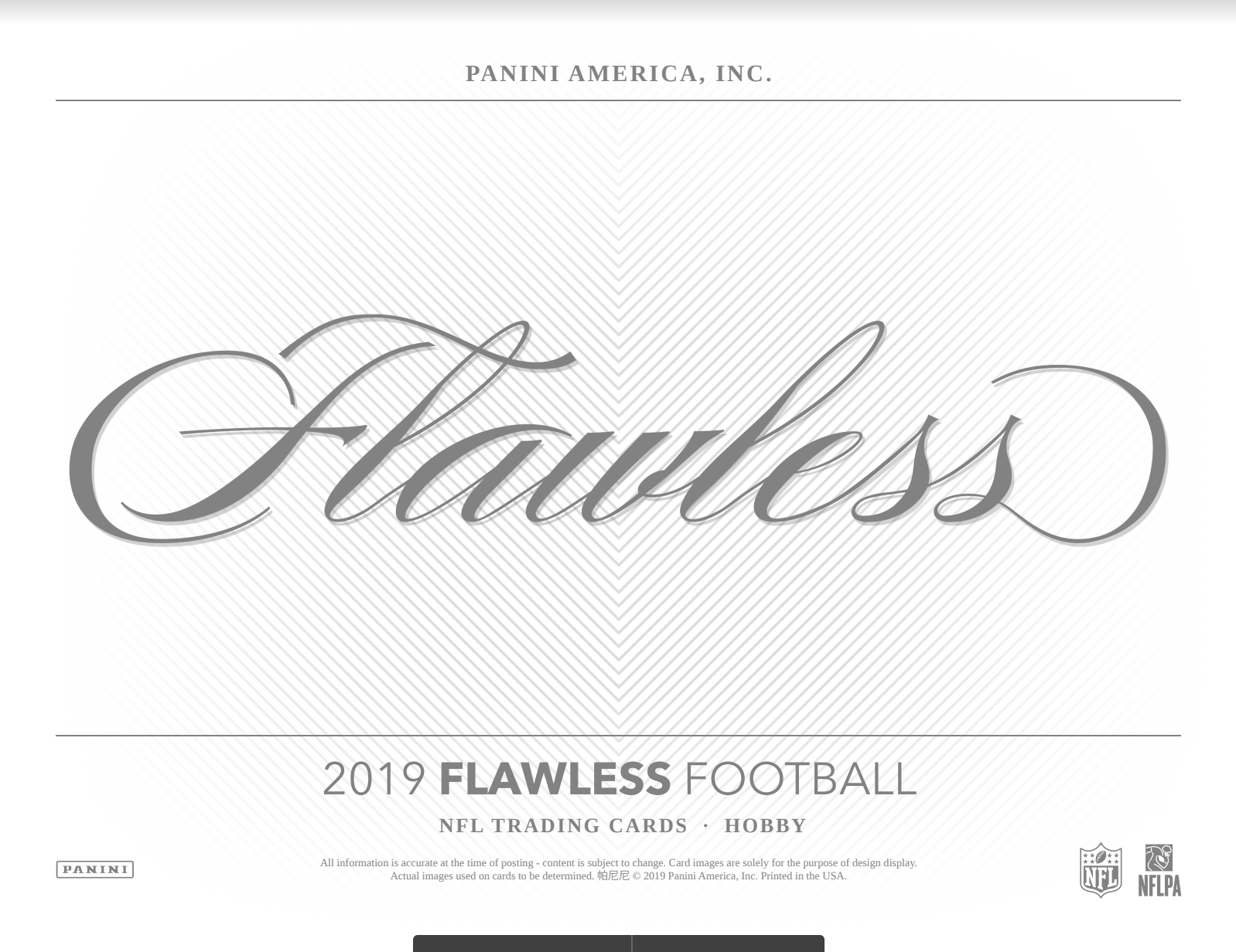 2019 Panini Flawless Football Hobby Box (Pre Order Mar 20)-Cherry Collectables