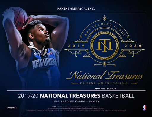 19-20 National Treasures Basketball 1-Box Break #0214 (Win Pelicans) - Team Based - Jul 10 (Night)-Cherry Collectables