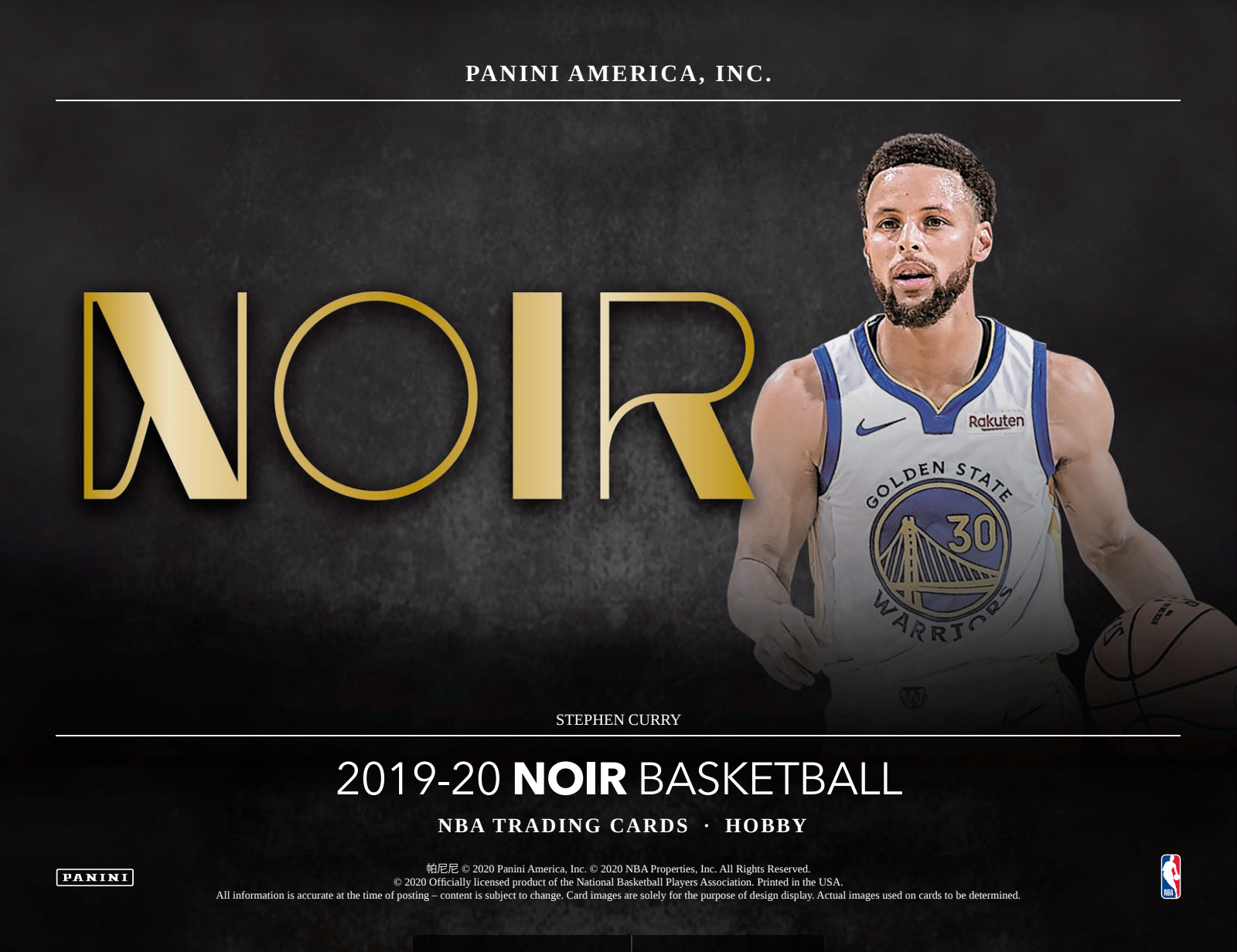 19-20 Panini Noir Basketball 1-Box Break #14 (Win Pelicans) - Team Based - May 29 (LUNCH)-Cherry Collectables