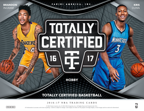 2016/17 Panini Totally Certified Basketball Hobby Box - Cherry Collectables - 1