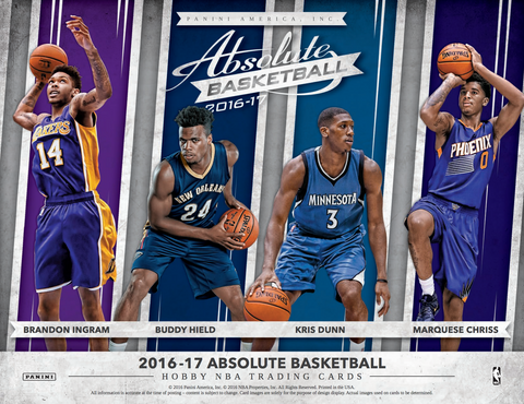 2016/17 Panini Absolute Basketball Hobby Box - Cherry Collectables - 1