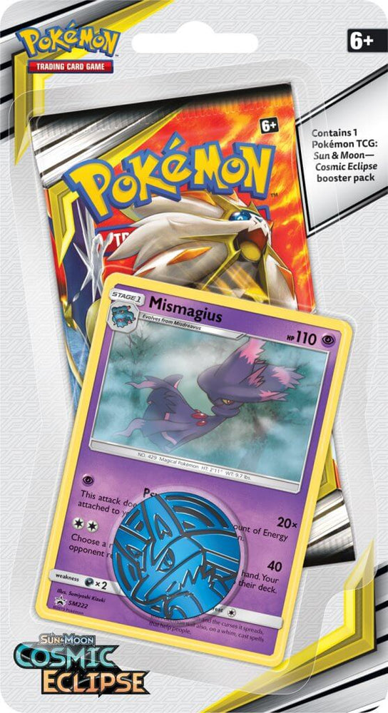 Pokemon TCG Cosmic Eclipse Checklane Blister Pack-Cherry Collectables