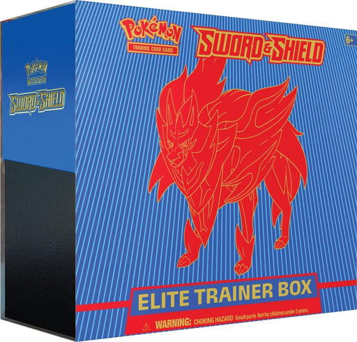 Pokemon TCG Sword and Shield Elite Trainer Box - Zamazenta-Cherry Collectables