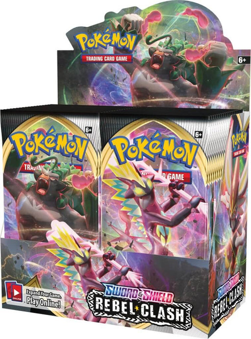Pokemon TCG Sword and Shield Rebel Clash Booster Box-Cherry Collectables