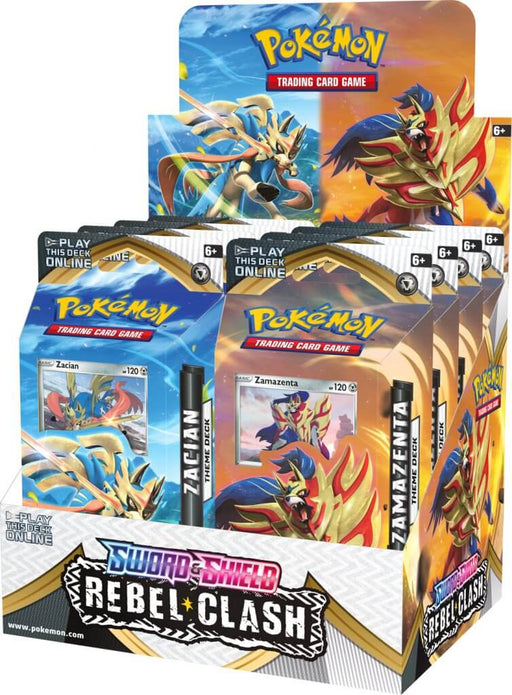 Pokemon TCG Sword and Shield Rebel Clash Theme Deck Combo - Zacian and Zamazenta (Pre Order May 1)-Cherry Collectables