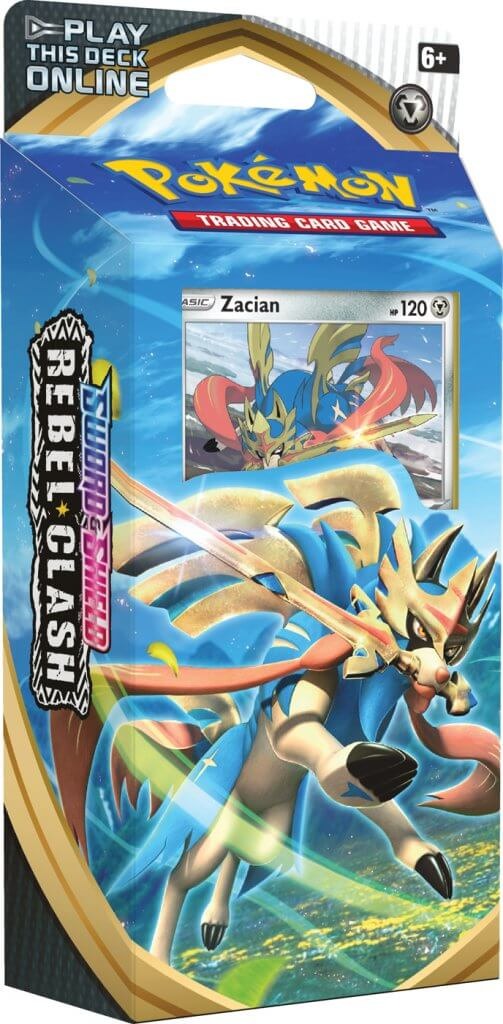 Pokemon TCG Sword and Shield Rebel Clash Theme Deck - Zacian (Pre Order May 1)-Cherry Collectables