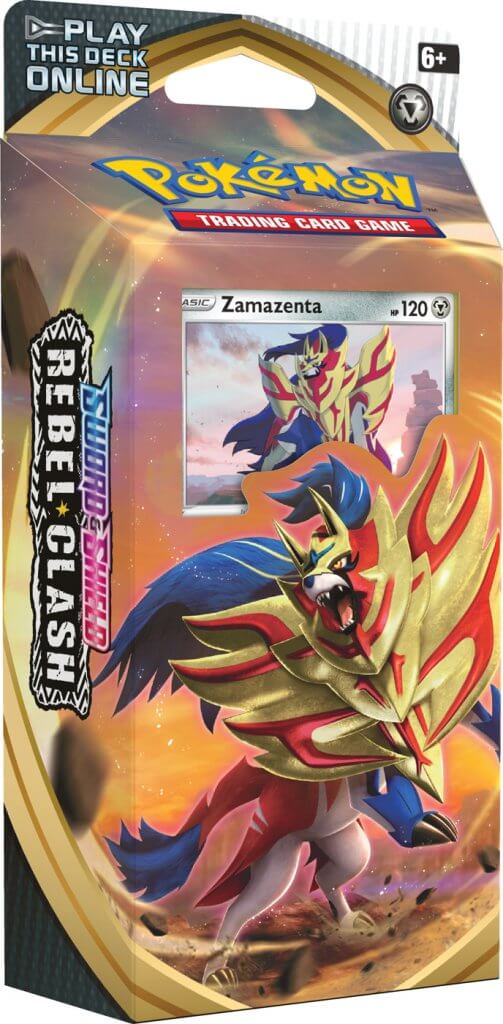 Pokemon TCG Sword and Shield Rebel Clash Theme Deck - Zamazenta (Pre Order May 1)-Cherry Collectables