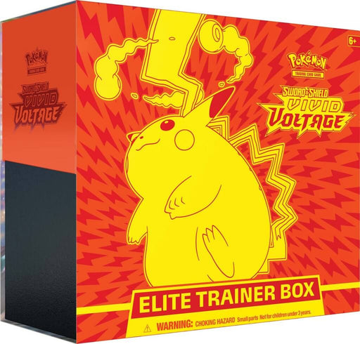 Pokemon TCG Sword and Shield Vivid Voltage Elite Trainer Box (Pre Order Oct 26)-Cherry Collectables