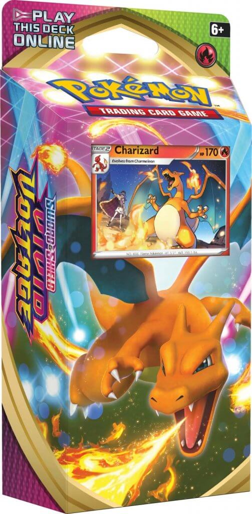 Pokemon TCG Sword and Shield Vivid Voltage Theme Deck Combo - Charizard and Drednaw (Pre Order Nov 13)-Cherry Collectables