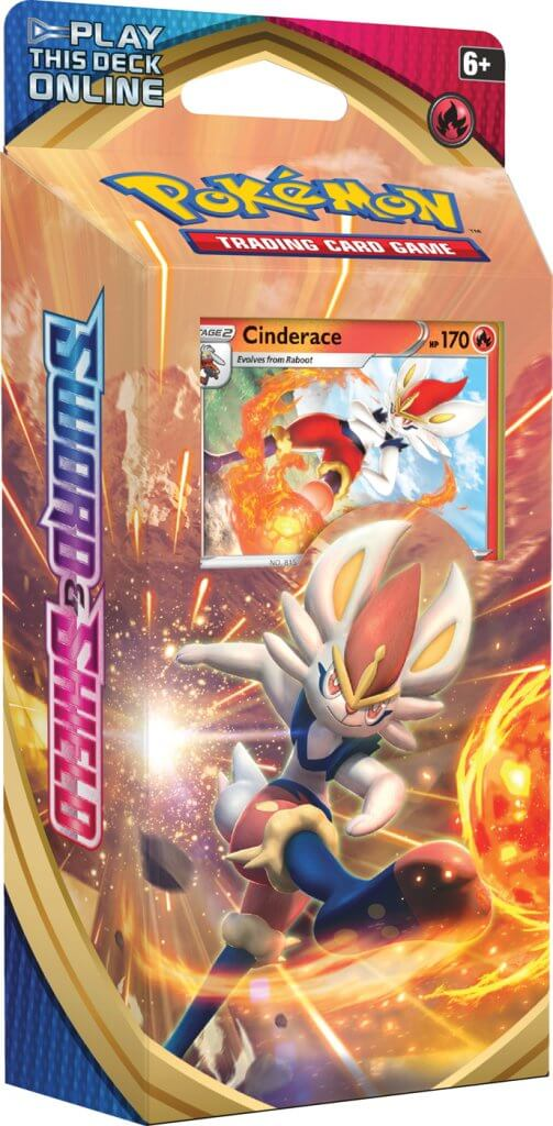 Pokemon TCG Sword and Shield Theme Deck - Cinderace-Cherry Collectables