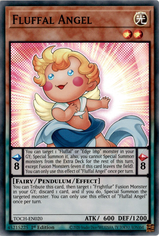 Fluffal Angel - TOCH-EN020 - Super Rare 1st Edition-Cherry Collectables