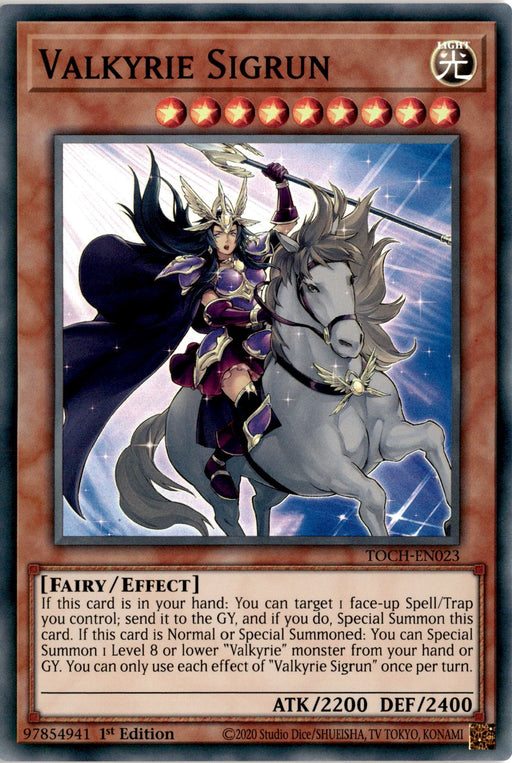 Valkyrie Sigrun - TOCH-EN023 - Super Rare 1st Edition-Cherry Collectables