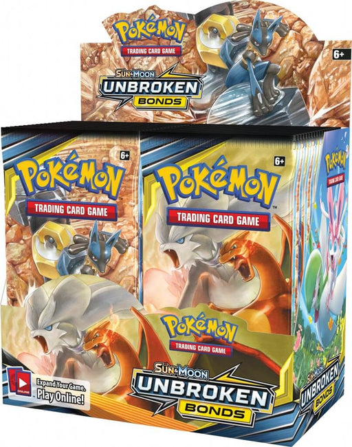 Pokemon TCG Sun & Moon Unbroken Bonds Booster Box-Cherry Collectables