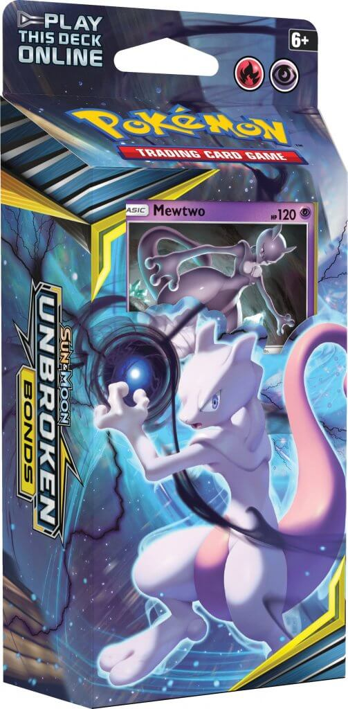 Pokemon TCG Sun & Moon Unbroken Bonds Theme Deck - Mewtwo (Pre Order May)-Cherry Collectables
