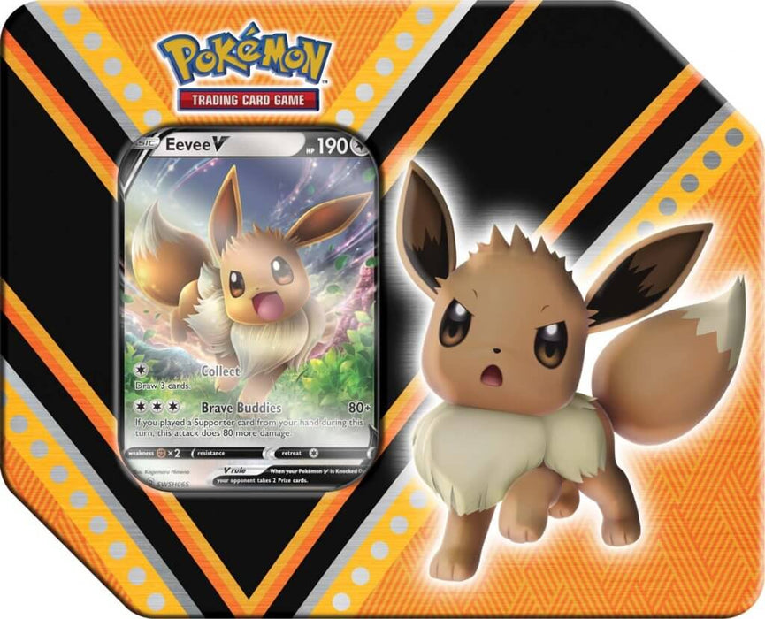 Pokemon TCG V Powers Tin Eevee (Pre Order Sept)-Cherry Collectables