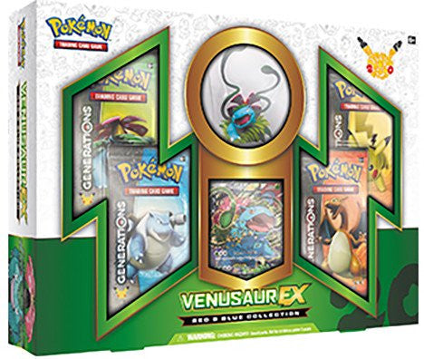 Red & Blue Collection Venusaur EX Figure Box - Cherry Collectables