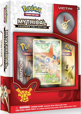 Mythical Pokemon Collection - Victini Pin Box-Cherry Collectables